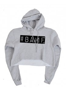 Ashley K Fit BAMF Cropped Hoodie